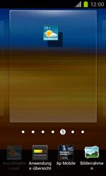 Samsung Galaxy S II - Startanleitung - Installieren von Widgets und Apps auf der Startseite - Schritt 5