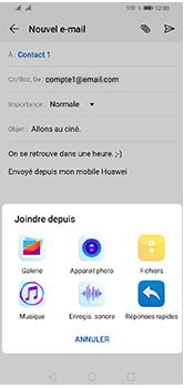 Huawei Y5 (2019) - E-mails - Envoyer un e-mail - Étape 11