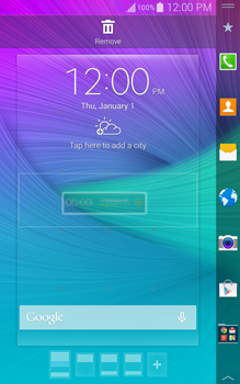Samsung Galaxy Note Edge - Getting started - Installing widgets and applications on your start screen - Step 6