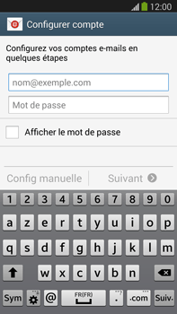 Samsung N9005 Galaxy Note III LTE - E-mail - Configuration manuelle - Étape 5