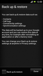 Sony Xperia J - Applications - Setting up the application store - Step 14