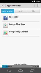 Huawei Ascend P6 - Apps - Eine App deinstallieren - Schritt 5