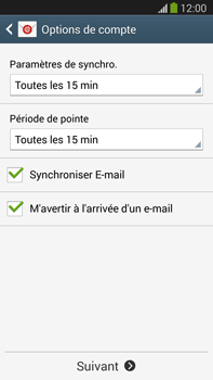 Samsung N9005 Galaxy Note III LTE - E-mail - Configuration manuelle - Étape 16