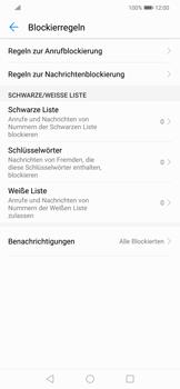 Huawei Mate 20 Lite - Anrufe - Anrufe blockieren - 6 / 12