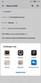 Huawei Mate 10 Pro - Android Pie - E-Mail - E-Mail versenden - Schritt 10