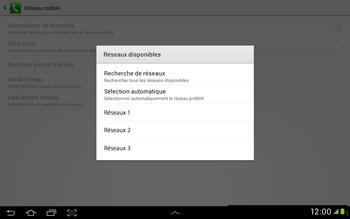 Samsung Galaxy Tab 2 10.1 - Réseau - Sélection manuelle du réseau - Étape 8