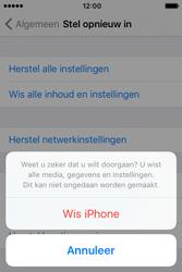 Apple iPhone 4S iOS 9 - Toestel reset - terugzetten naar fabrieksinstellingen - Stap 7