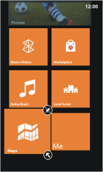 Nokia Lumia 800 / Lumia 900 - Getting started - Personalising your Start screen - Step 7
