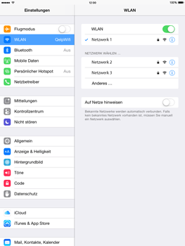 Apple iPad Air iOS 8 - WiFi - WiFi-Konfiguration - Schritt 7