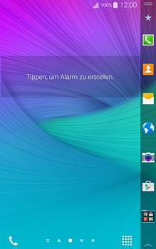 Samsung Galaxy Note Edge - Startanleitung - Installieren von Widgets und Apps auf der Startseite - Schritt 7