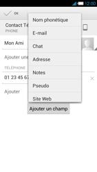 Bouygues Telecom Ultym 4 - Contact, Appels, SMS/MMS - Ajouter un contact - Étape 11