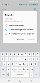 Samsung Galaxy Note 8 - Wi-Fi - Verbinding maken met Wi-Fi - Stap 8