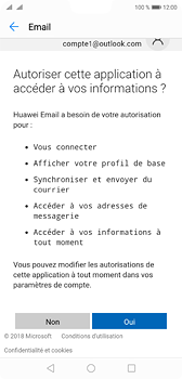 Huawei P20 - E-mail - Configuration manuelle (outlook) - Étape 9