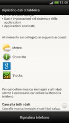 HTC One S - Dispositivo - Ripristino delle impostazioni originali - Fase 8