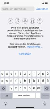 Apple iPhone X - iOS 14 - Internet und Datenroaming - Verwenden des Internets - Schritt 4