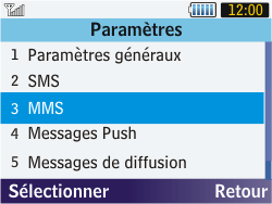 Samsung S3570 Chat 357 - MMS - configuration manuelle - Étape 17