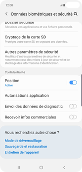Samsung Galaxy S10 Plus - Sécuriser votre mobile - Personnaliser le code PIN de votre carte SIM - Étape 5