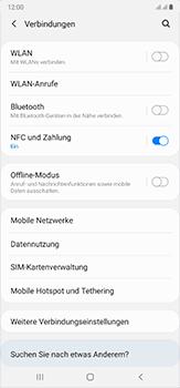 Samsung Galaxy Note 20 Ultra 5G - Netzwerk - So aktivieren Sie eine 5G-Verbindung - Schritt 5