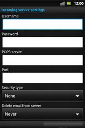 Sony ST27i Xperia Go - E-mail - Manual configuration - Step 8
