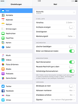Apple iPad 4 - E-Mail - Konto einrichten (outlook) - 9 / 11