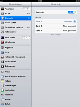 Apple iPad mini - Bluetooth - Verbinden von Geräten - Schritt 9