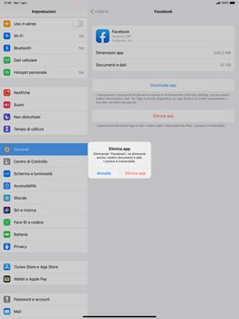 Apple iPad Pro 12.9 (2018) - ipados 13 - Applicazioni - Come disinstallare un