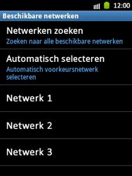 Samsung S5300 Galaxy Pocket - Netwerk - Handmatig netwerk selecteren - Stap 11