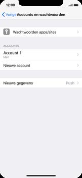 Apple iPhone X - E-mail - Account instellen (POP3 met SMTP-verificatie) - Stap 25