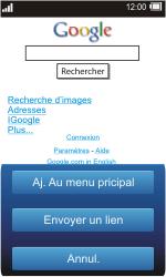 Sony TXT Pro - Internet - Navigation sur Internet - Étape 5