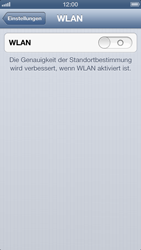 Apple iPhone 5 - WiFi - WiFi-Konfiguration - Schritt 4