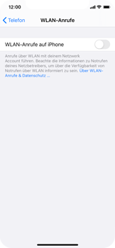 Apple iPhone X - iOS 14 - WiFi - WiFi Calling aktivieren - Schritt 6
