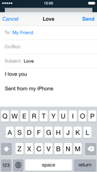 Apple iPhone 5c iOS 8 - E-mail - Sending emails - Step 8