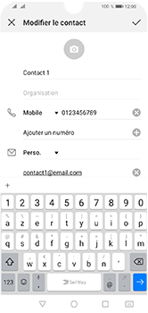 Huawei Y5 (2019) - Contact, Appels, SMS/MMS - Ajouter un contact - Étape 10
