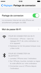 Apple iPhone 5 (iOS 8) - Internet et connexion - Utiliser le mode modem par USB - Étape 9