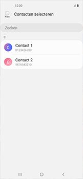 Samsung galaxy-xcover-pro-sm-g715fn - Contacten en data - Contacten kopiëren van toestel naar SIM - Stap 9
