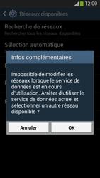 Samsung Galaxy S 4 LTE - Réseau - Sélection manuelle du réseau - Étape 10