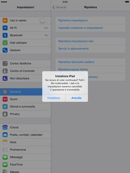 Apple iPad mini iOS 7 - Dispositivo - Ripristino delle impostazioni originali - Fase 8