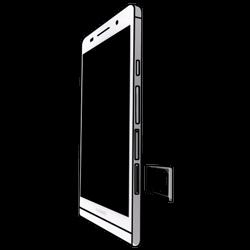 Huawei Ascend P6 LTE - SIM-Karte - Einlegen - 3 / 7