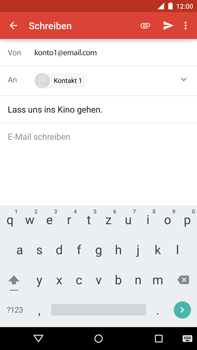 Motorola Google Nexus 6 - E-Mail - E-Mail versenden - Schritt 8