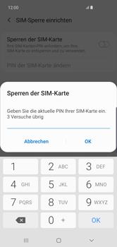 Samsung Galaxy S10 Plus - Startanleitung - So aktivieren Sie eine SIM-PIN - Schritt 8