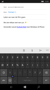 Microsoft Lumia 950 XL - E-mail - E-mail versturen - Stap 9