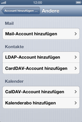Apple iPhone 4S - E-Mail - Manuelle Konfiguration - Schritt 10