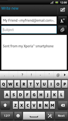 Sony LT22i Xperia P - E-mail - Sending emails - Step 7