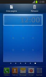 Samsung Galaxy Trend Lite - Operazioni iniziali - Installazione di widget e applicazioni nella schermata iniziale - Fase 10