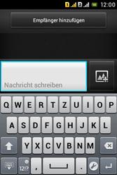Sony Xperia Tipo Dual - MMS - Erstellen und senden - 0 / 0