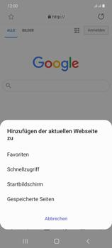 Samsung Galaxy Note 20 5G - Internet und Datenroaming - Verwenden des Internets - Schritt 11