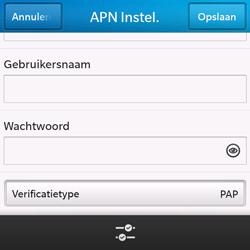BlackBerry Q10 - Internet - handmatig instellen - Stap 11