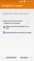 Crosscall Trekker M1 Core - E-mails - Ajouter ou modifier un compte e-mail - Étape 19
