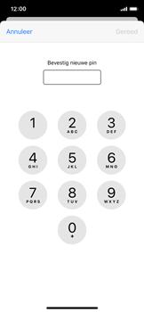 Apple iPhone X - iOS 13 - Beveiliging - Stel de pincode voor je simkaart in - Stap 10
