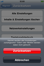 Apple iPhone 3G - Fehlerbehebung - Handy zurücksetzen - Schritt 8